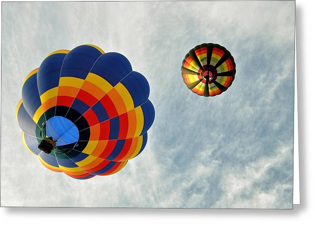 Greeting Card featuring the photograph Balloons On The Rise by Rick Frost