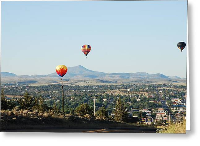 Balloons Over Madras Greeting Card