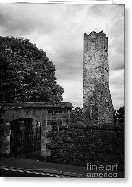 Ballymoney Old Church Tower And Graveyard From The 17th Century County Antrim Northern Ireland Greeting Card by Joe Fox