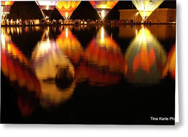 Baloominaria Reflections Greeting Card by Tina Karle