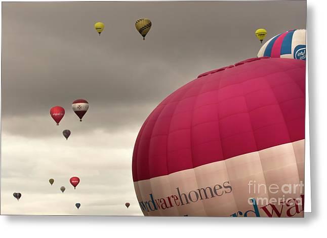 Baloons Greeting Card by Angel  Tarantella