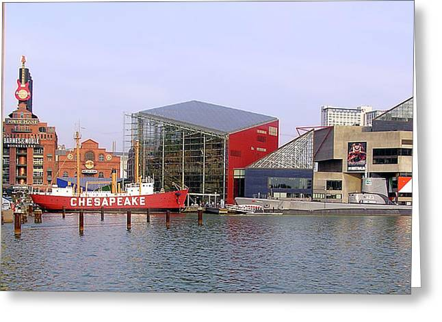 Baltimore Inner Harbor Greeting Card by Brian Wallace