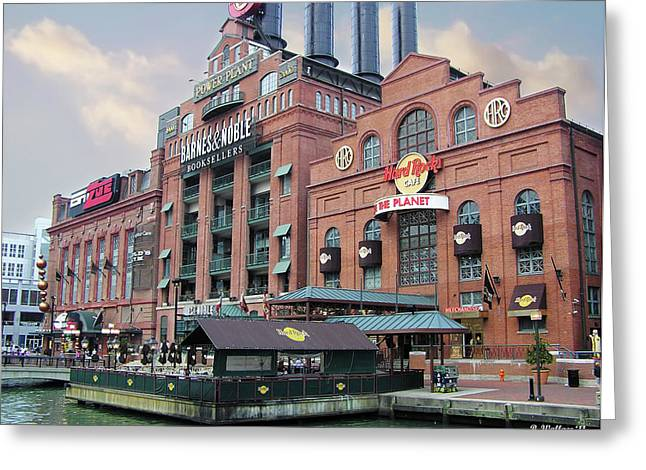 Baltimore Power Plant Greeting Card by Brian Wallace