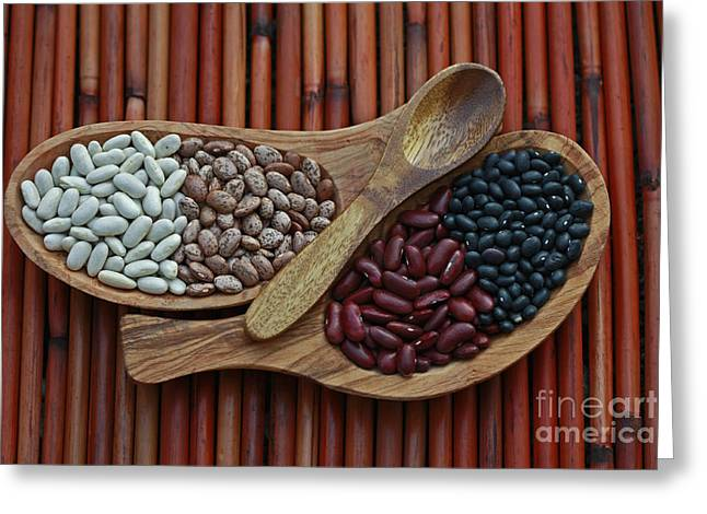 Bamboo And Beans Greeting Card by Inspired Nature Photography Fine Art Photography