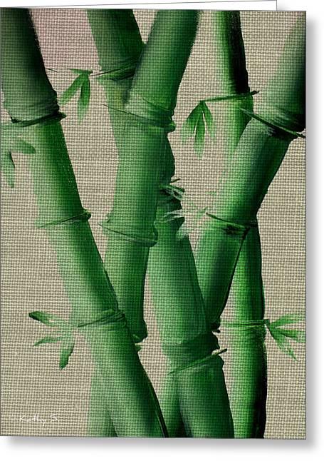 Bamboo Cloth Greeting Card by Kathy Sheeran