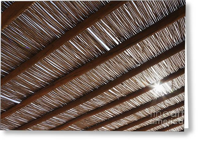 Bamboo Roof Greeting Card by Jeremy Woodhouse