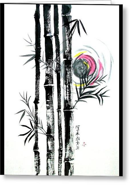Bamboo Sunset Greeting Card