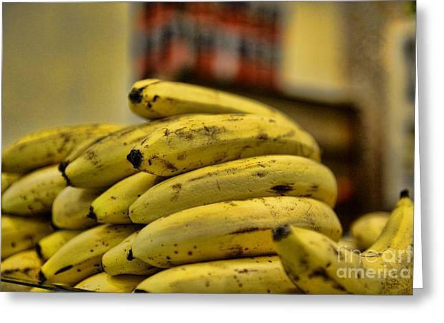 Bananas Greeting Card by Paul Ward