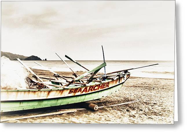 Banca Boat Greeting Card by Skip Nall