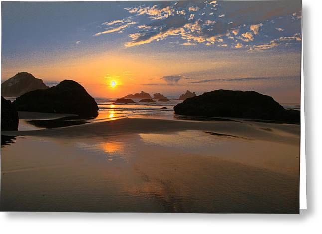 Bandon Scenic Greeting Card by Jean Noren