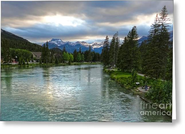 Banff And The Bow River - 02 Greeting Card by Gregory Dyer