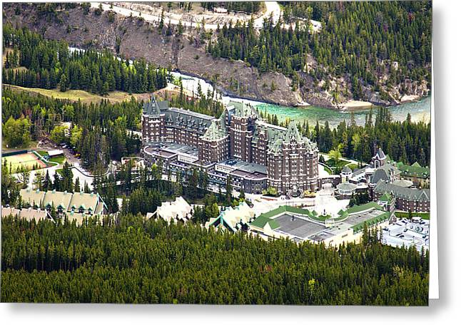 Banff Hotel 1575 Greeting Card by Larry Roberson