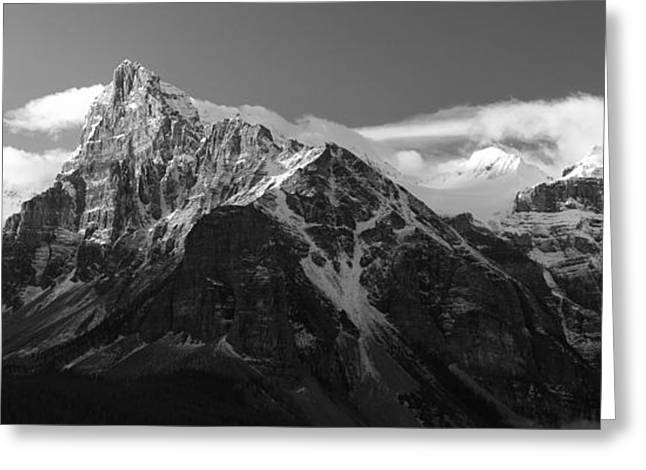 Banff Mountain Range Greeting Card by Keith Kapple
