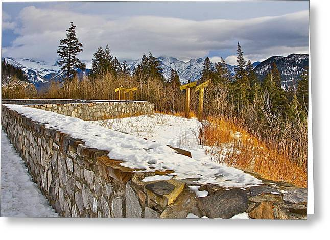 Greeting Card featuring the photograph Banff Scene by Johanna Bruwer