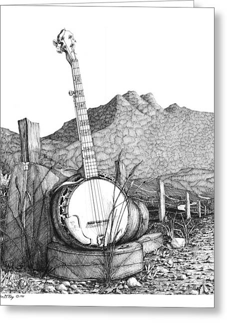 Banjo 2 Greeting Card by Olin  McKay