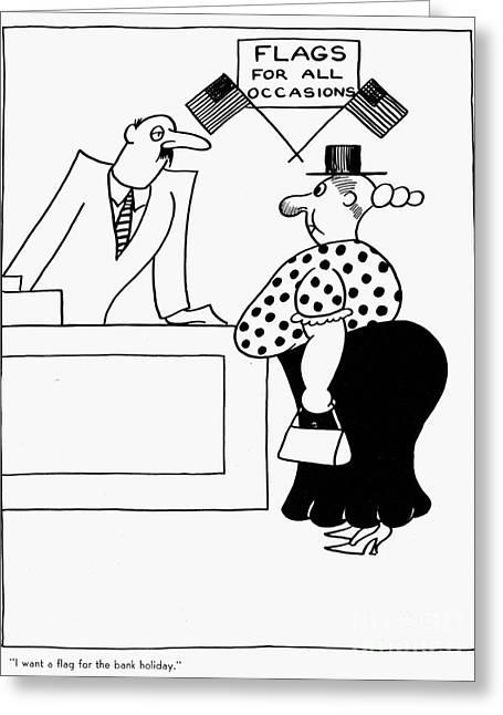 Bank Holiday Cartoon, 1933 Greeting Card by Granger