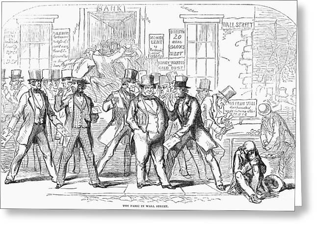 Bank Panic, 1857 Greeting Card by Granger