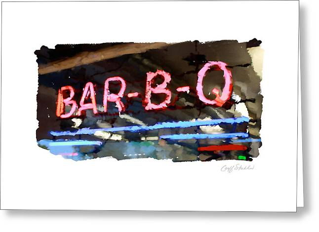 Bar-b-q Greeting Card by Geoff Strehlow