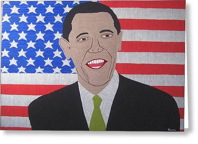 Barack O' Bama Greeting Card by Eamon Reilly