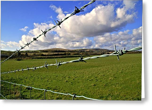 Barbed Wire Cloud Greeting Card by Lee Rees