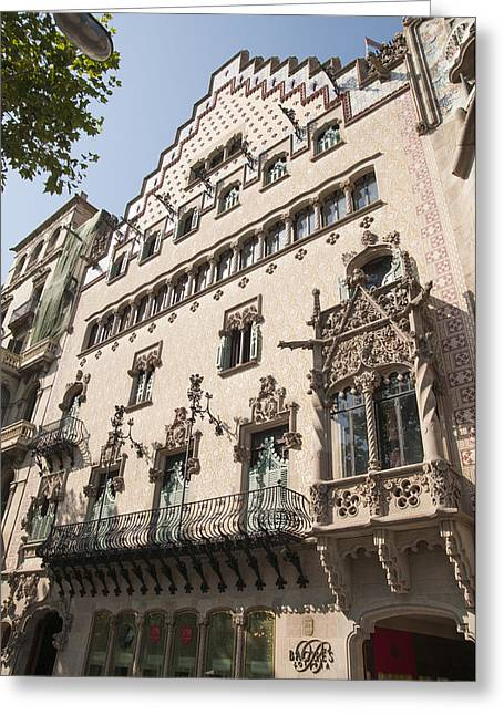 Barcelona Casa Amatller Building Greeting Card by Matthias Hauser