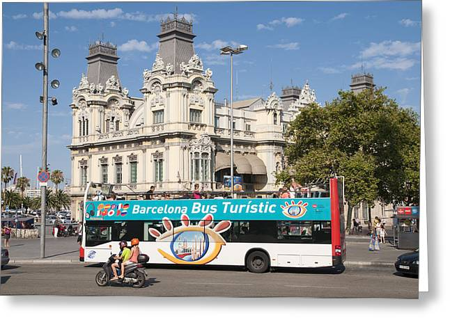 Barcelona Greeting Card by Matthias Hauser