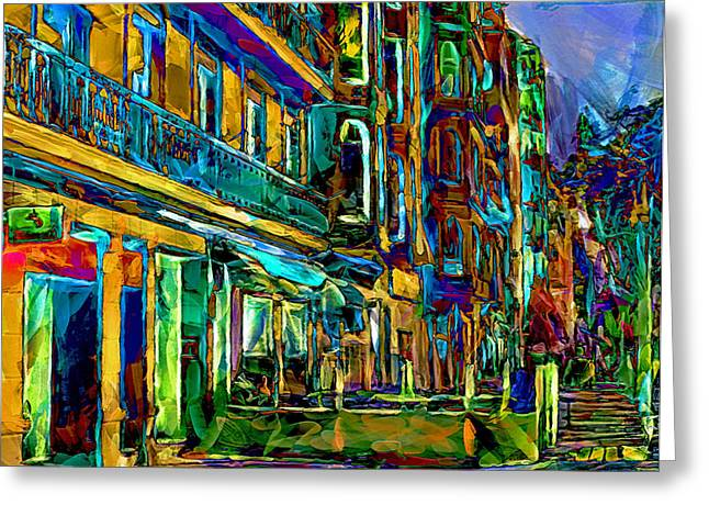 Barcelona Streets Two Greeting Card by Yury Malkov