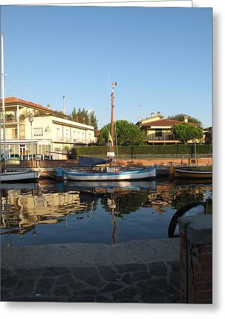 Barche Da Pesca Cervia Porto Greeting Card