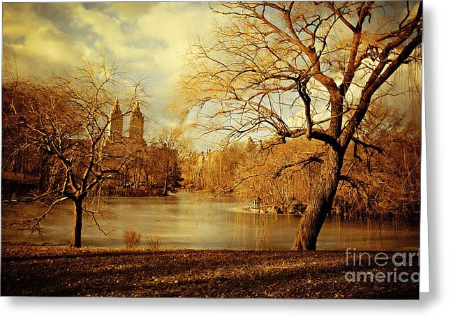Bare Beauty In Central Park Greeting Card