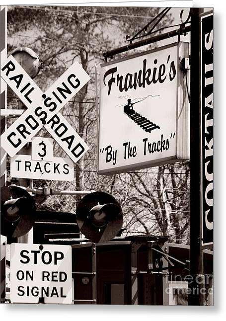 Greeting Card featuring the photograph Barhopping At Frankies 1 by Lee Craig