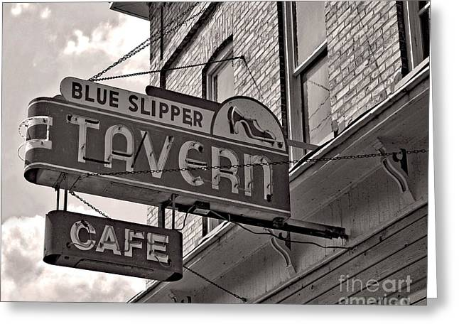 Greeting Card featuring the photograph Barhopping At The Blue Slipper by Lee Craig