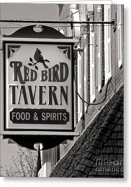 Greeting Card featuring the photograph Barhopping At The Red Bird 1 by Lee Craig