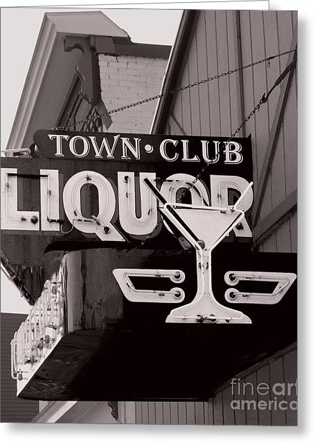 Greeting Card featuring the photograph Barhopping At The Town Club 1 by Lee Craig
