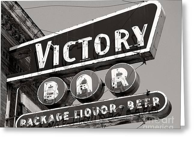 Greeting Card featuring the photograph Barhopping At The Victory 1 by Lee Craig