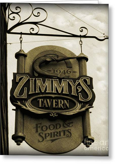 Greeting Card featuring the photograph Barhopping At Zimmys 2 by Lee Craig