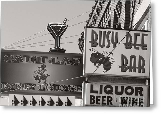 Greeting Card featuring the photograph Barhopping Cadillac Style 1 by Lee Craig