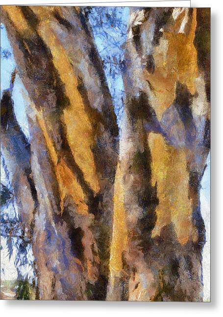 Greeting Card featuring the digital art Bark by Roberto Gagliardi