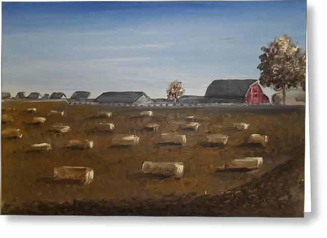 Greeting Card featuring the painting Barn by Angela Stout