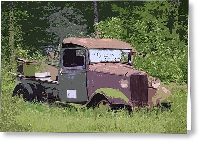 Barn Fresh Pickup Greeting Card by Steve McKinzie