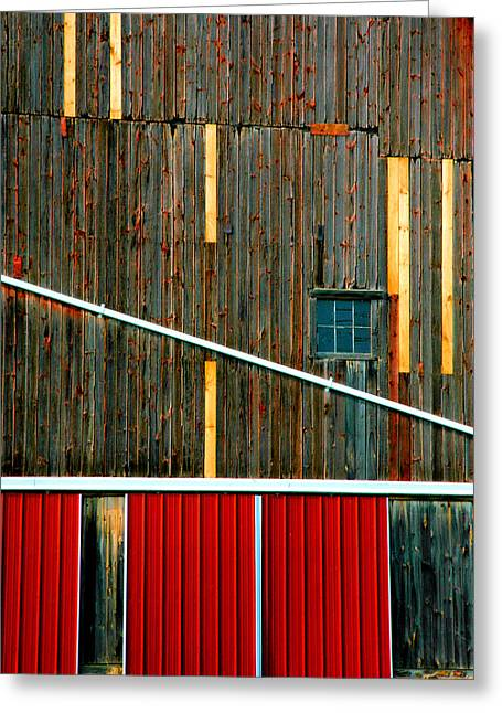 Barn Graphics Greeting Card by Steven Ainsworth
