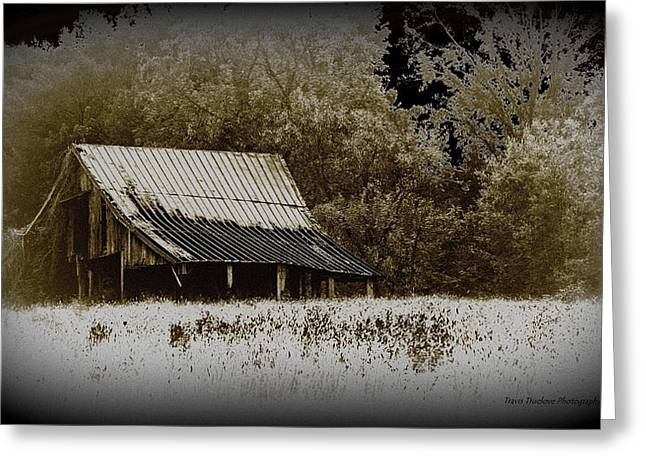 Barn In The Field Greeting Card by Travis Truelove
