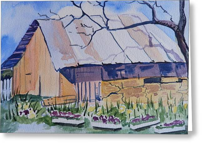 Barn Near Payson Greeting Card
