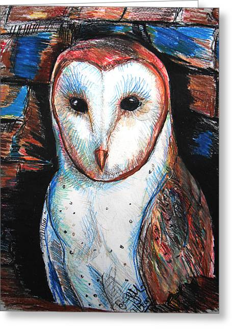 Barn Owl  Greeting Card by Jon Baldwin  Art