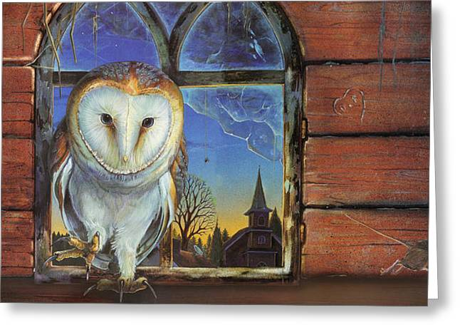 Barn Owls Finds A Home Greeting Card