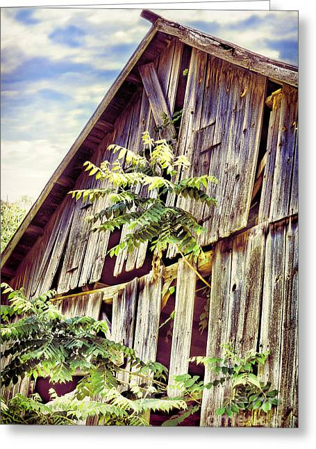 Barn With Tree Greeting Card