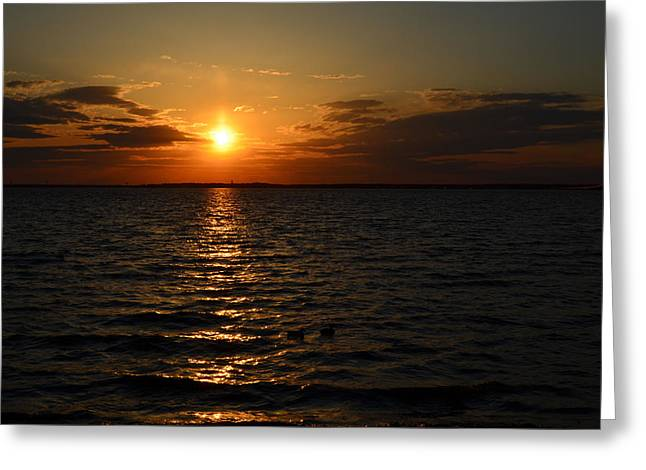 Barnegat Bay Sunset Greeting Card