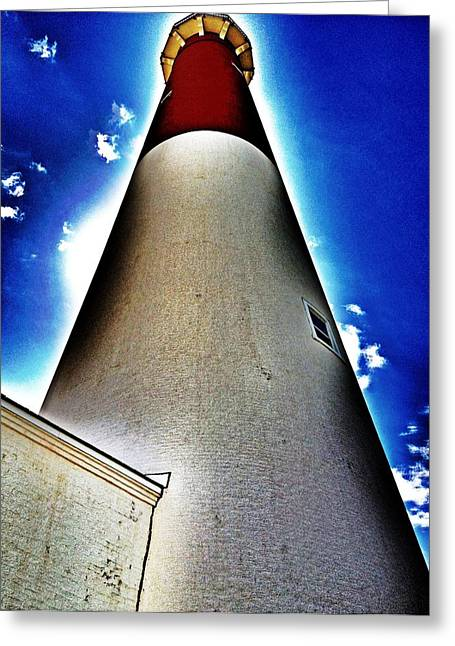 Barnegat Lighthouse Greeting Card by Jaclyn Dilling