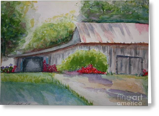 Barns Last Days Greeting Card by Terri Maddin-Miller