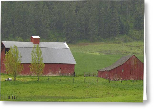 Barns Of The Palouse 5 Greeting Card by Tony and Kristi Middleton