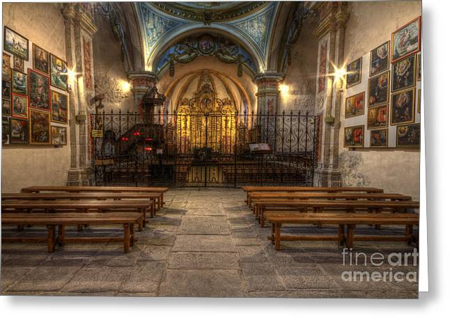 Baroque Church In Savoire France 4 Greeting Card